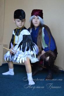 авторские карнавальные костюмы фото Баба Яга и Сорока
