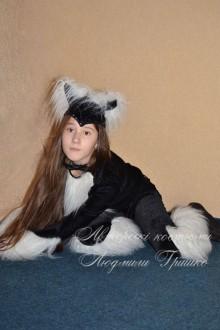 авторский карнавальный костюм черной кошки на хеллоуин фото