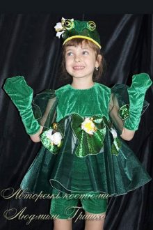 костюм лягушки фото платье с лотосами