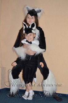 авторские карнавальные костюмы кошки и котенка фото