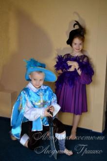 мушкетер и дама фото маскарадных костюмов для детей