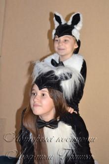 фото костюм кошки и котенка на halloween