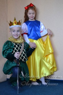 Белоснежка и принц фото детских костюмов
