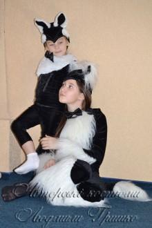 авторские костюмы кошки и котенка на halloween фото
