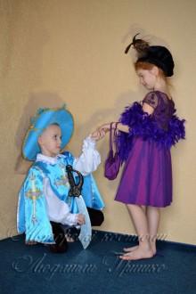 мушкетер и дама фото авторских костюмов для детей
