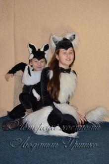 взрослый костюм кошки и детский костюм котенка фото