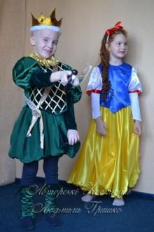 Белоснежка и принц фото детских карнавальный нарядов на новый год