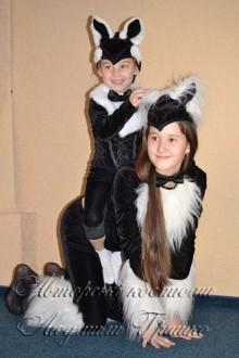 новогодний костюм кошки и котенка фото