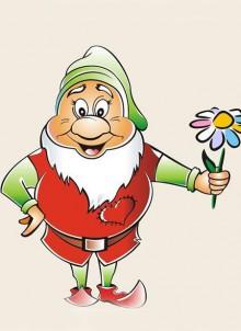 гном фото иллюстрация с цветком