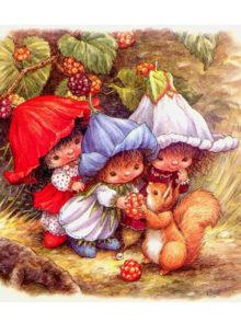 гномы девочки иллюстрация