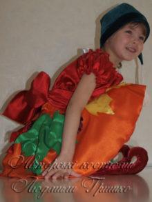 новогодний костюм гнома девочки фото