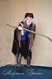 фото карнавальный костюм Бабы Яги для девочки