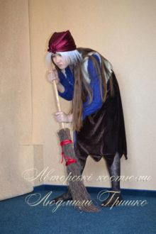 костюм бабы яги с метлой для подростка фото