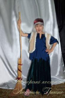 костюм бабы яги с метлой для девочки фото