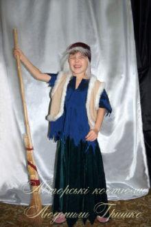 авторский карнавальный костюм бабы яги для ребенка фото