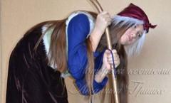 фото костюм бабы-яги на Halloween для девочки