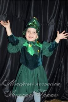 авторский карнавальный костюм огурчика фото