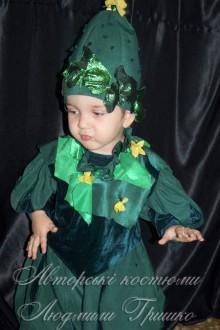 костюм огурчика фото с воротником из листьев