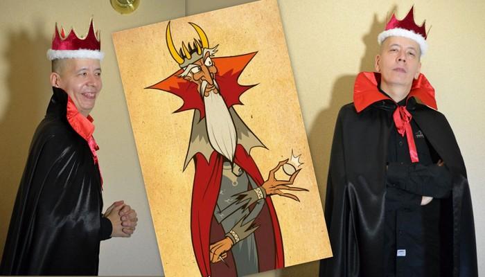 костюм кащея бессмертного карнавальный фото коллаж на фоне иллюстрации