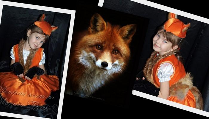 костюм лисички детский фото коллаж с лисицей