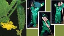 фото коллаж к детскому карнавальному костюму огурца