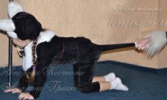 фото костюм котенка на Хеллоуин карнавальный детский