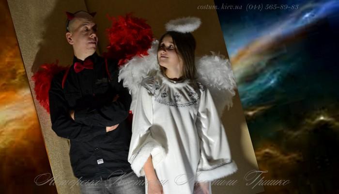 костюмы ангела и демона взрослые фото коллаж