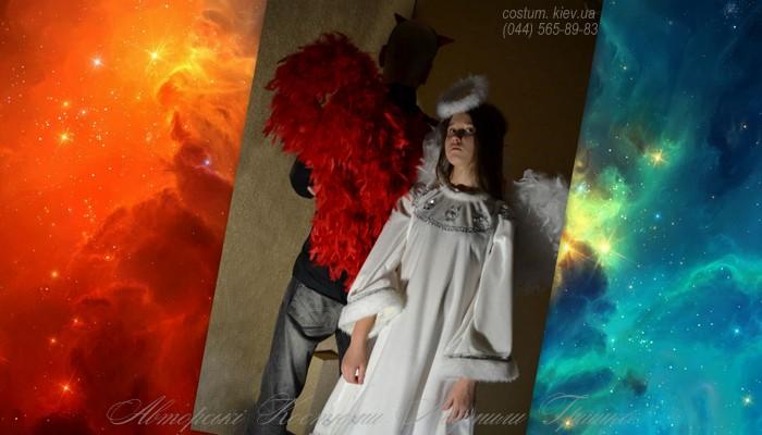 костюмы ангела и демона маскарадные фото коллаж