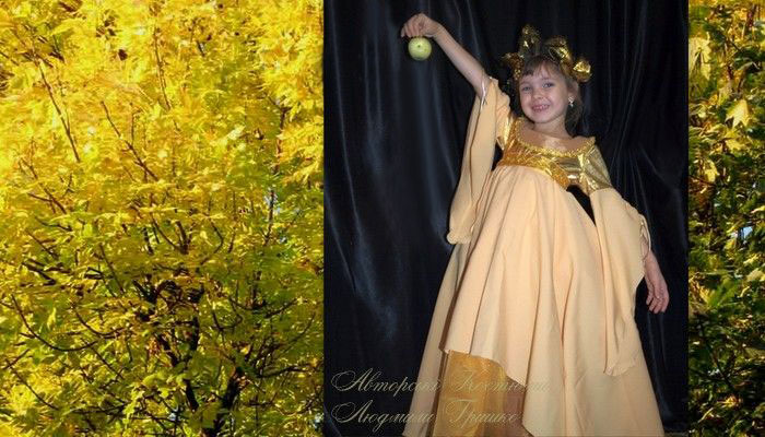 фото костюм осень для девочки карнавальный