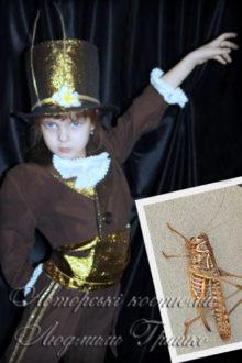 фото коллаж костюм кузнечика для девочки или мальчика