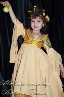 костюм осень детский фото с яблоком