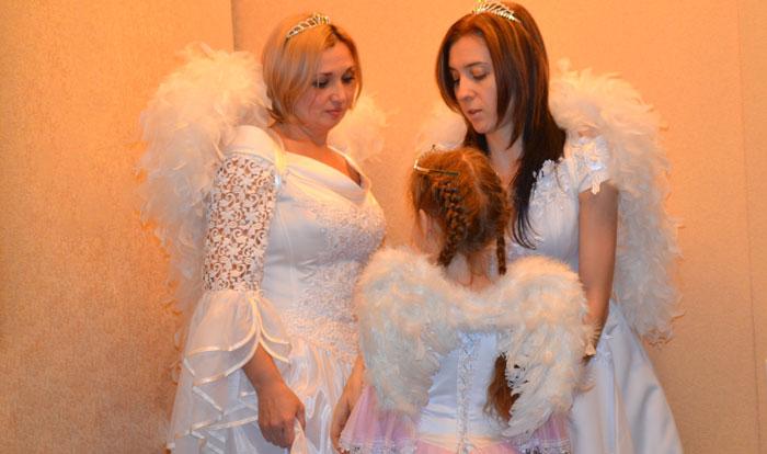 фото карнавальных авторских костюмов - три ангела
