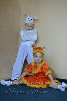 белочка и зайчик фото карнавальных детских костюмов