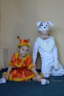 белочка и зайчик фото новогодних костюмов