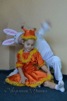 белочка и зайчик фото детских костюмов