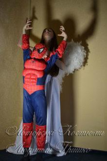 ангел и спайдермен фото костюмов