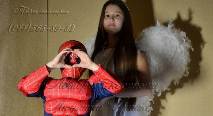 ангел и спайдермен карнавальные костюмы фото