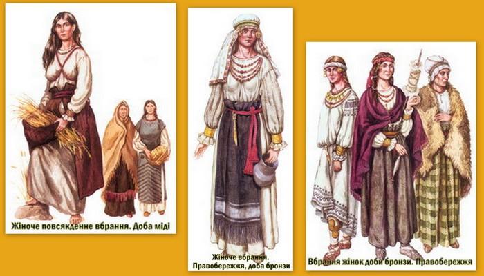 фото коллаж украинский костюм история национальной одежды