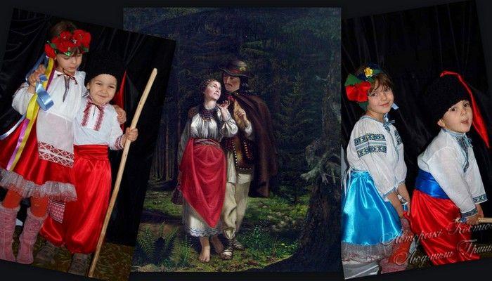 украинские народные костюмы фото коллаж