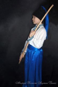 костюм козака в синих шароварах фото