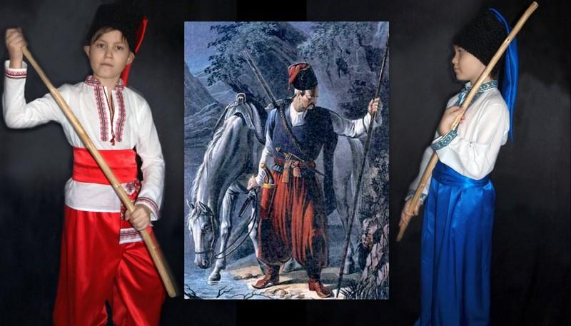 украинский костюм козака фото коллаж