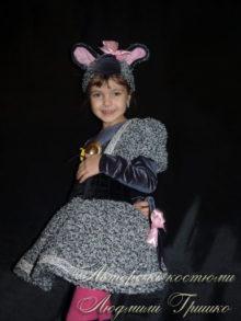 костюм мышки для девочки на праздник осени фото