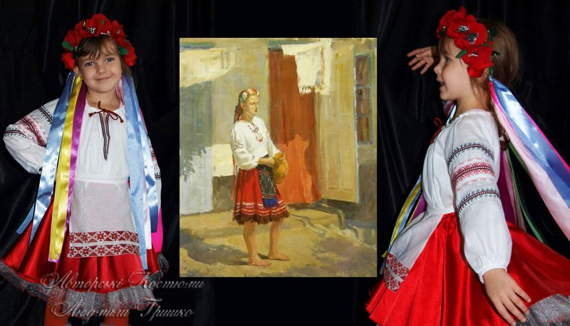 костюм украинки для девочки фото национального костюма