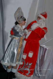 костюм деда мороза фото аппликация на шубе