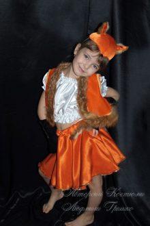 костюм лисички с опушкой из натурального меха фото