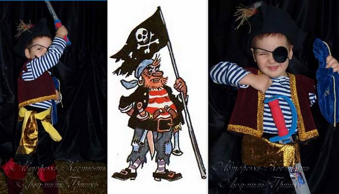 детский костюм разбойника пирата фото с веселым роджером