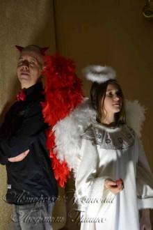 взрослые костюмы ангела и демона фото