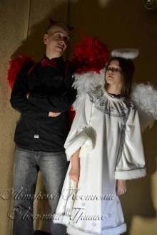 авторские карнавальные взрослые костюмы ангела и демона фото
