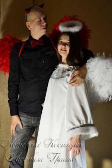 костюмы ангела и демона для детей и взрослых фото для halloween