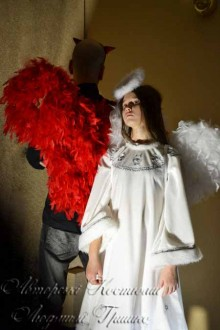 новогодние костюмы ангела и демона